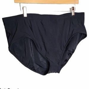 Aqua Green NWOT Swimsuit Bottoms Brief Black Plus